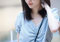 28歲鄭爽青春無敵美少女,鎖骨發搭配格子衫年輕又時髦,美呆了