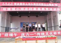 駐馬店市財政局幫扶單位在蟻蜂鎮小鄧莊村開展迎端午捐善款活動