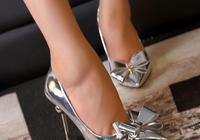 銀光高跟鞋