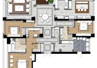 這才是真土豪,260多平的大平層只做了三個臥室,功能很強大!