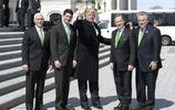 愛爾蘭總理訪美 特朗普和高官戴綠領帶慶祝聖帕特里克節