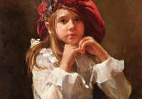 她筆下的油畫人物色彩厚重而生動富於濃厚人文主義