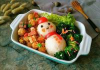聖誕雪人飯糰