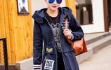 秋冬新款肥胖mm大碼女裝修身顯瘦學生中長款長袖開衫風衣少女外套