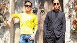何炅與黃磊大墨鏡同框,何老師亮了,170身高拍出180的感覺