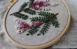 日本刺繡作家的花卉刺繡欣賞