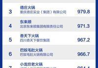 中國火鍋十大品牌揭曉:一超多強格局形成 三四線城市待開發