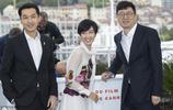 胡歌、萬茜在法國戛納舉行的第72屆戛納電影節上