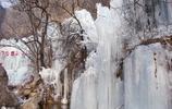"""邢臺雲夢山風景區,冬天的冰瀑景觀壯觀,這也有""""小九寨溝""""之稱"""