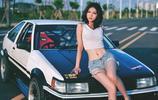 酷 豐田AE86 車模