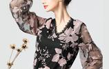 新出一種小衫:叫柔姿衫,也叫雪紡衫,780女人穿,優雅特迷人