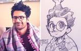 這位神奇的藝術家竟把每個人都畫進了漫畫裡!