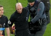 皮一下很開心,主裁把球藏在後背逗要球的阿圭羅