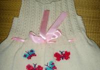 甜美可人的兒童公主背心裙針織,附編織教程