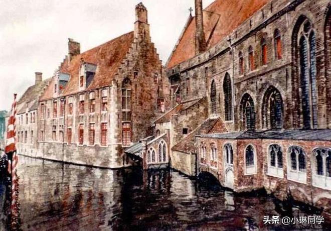 光影結合,波蘭建築水彩作品美麗極了