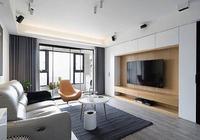 132平現代簡約三居室,電視背景牆做了隱藏式超大儲物空間