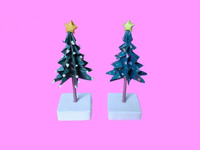 聖誕節快到了,教你在家做一個漂亮的聖誕樹,簡單有創意
