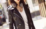 """楊紫:皮衣搭配黑色緊身褲,這一身個性穿搭""""絕了""""!"""