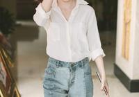 """""""四千年美女""""鞠婧禕,穿白襯衫牛仔褲都清新脫俗,網友:圈粉了"""