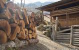 雲南怒江|怒族小夥用摩托車拉木頭,幾百斤重毫無壓力