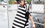 林妙可到美國玩耍,衣品直線上升,將黑白色上衣穿出時尚感