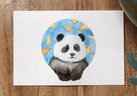 豆瓣日記: 步驟 畫一隻熊貓