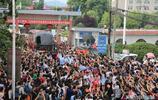 毛坦廠送考車牌91666,發車時間提前,現場群眾減少