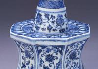 故宮博物院收藏的永樂青花燭臺細節圖,真的很美!瓷器鑑定真知堂