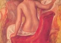 致敬大師皮埃爾·奧古斯特·雷諾阿之椅子上的裸體