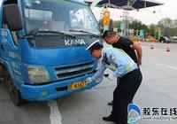 高速交警萊山大隊開展車輛號牌專項檢查行動