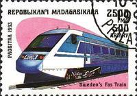 馬達加斯加郵票上的火車頭