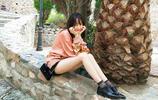 夏季出遊穿什麼?熱巴空氣劉海配短裙好少女,楊紫baby休閒減齡