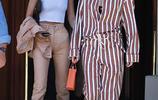 哈迪德姐妹出街,吉吉穿條紋連體褲拉風,妹妹貝拉休閒裝比例搶鏡