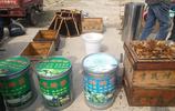 養蜂大姐農村大集上賣蜂蜜,現割現搖現賣,底氣很足不套路