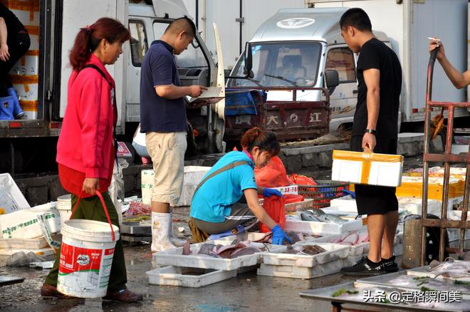 夏天來青島逛早市 花100塊錢能吃一天海鮮不重樣 起早跑腿很划算
