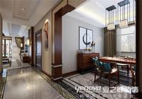 濟南希思莊園380平方別墅新中式風格,莊重典雅