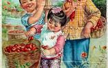 毛主席時代宣傳畫,公共食堂菜飯香,公社盛開大慶花
