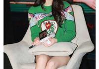 古力娜扎穿綠毛衣連秒楊冪熱巴,帶貨女王要讓位了,夠強勢!