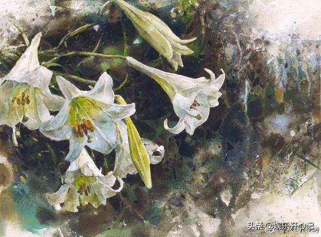 臺灣水彩畫家謝明錩花卉作品一組,太美了吧