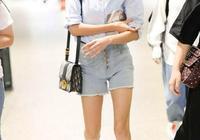 28歲吳謹言好會穿,襯衫+短褲清爽又減齡,小個子的夏日必備造型