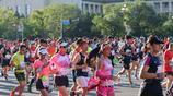運動最美,抓拍跑北京馬拉松的美女選手