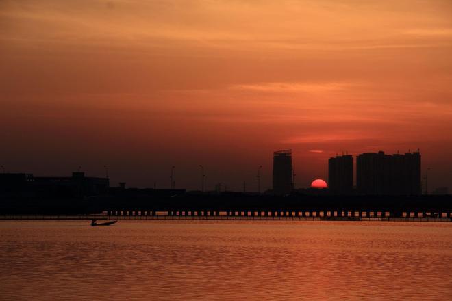 長河落日圓 日月又同輝 這樣的場景你看到過嗎?