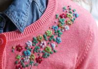 嗨!毛衣上繡點小花花兒,你就變成了花菇涼,刺繡真的不難學