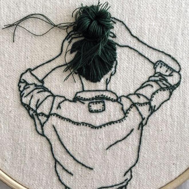 """這位藝術家的3D刺繡小人要""""蹦""""出來了!"""