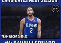 美媒預測了19-20賽季MVP前五的戰績和數據,你覺得倫納德第一是否合理?