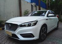 這輛車是MG,價格才9.38萬,整體車況看起來不錯