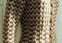 鉤針編織一款小香風格的長袖開衫,優雅大方,附編織圖解