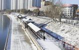 雪後松花江兩岸