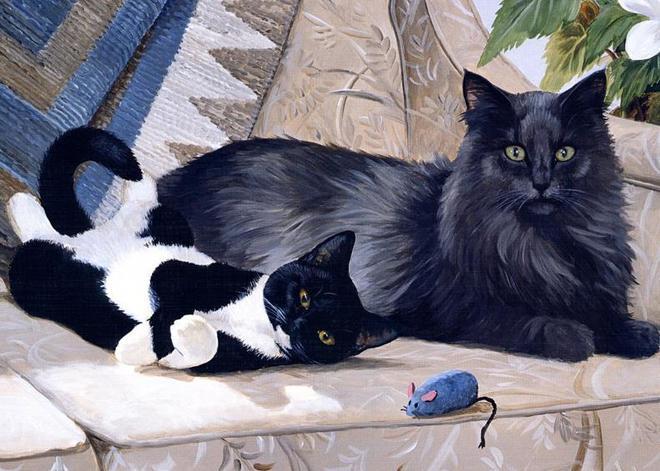 貓咪和它的小夥伴手繪圖集