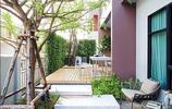 庭院設計:整個庭院滿鋪防腐木是什麼效果你來見證一下吧,也很美